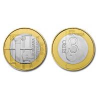 Slovenia 2010 3 euro World Book Capital