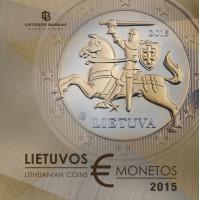 Lithuania 2015 Euro coins PROOF set