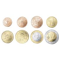 Austria 2008 UNC Euro coin set