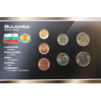 Bulgaria 1999-2002 year blister coin set