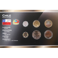 Chile 2008 year blister coin set