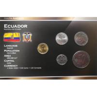 Ecuador 2000 year blister coin set