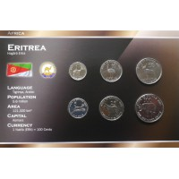 Eritrea 1991 year blister coin set