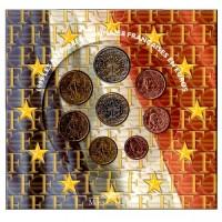 France 1999 Euro coins BU set