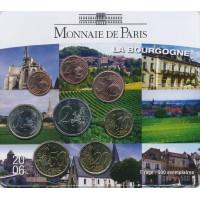 France 2006 Euro coin BU set La Bourgogne