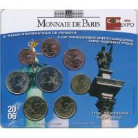 France 2006 Euro coins BU set Warsaw