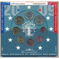 France 2009 Euro coins BU set