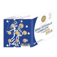 France 2014 Euro coins BU set