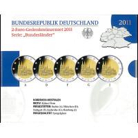 Germany 2011 A D F G J Westphalia  BU set