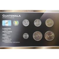 Guatemala 1998-2007 year blister coin set