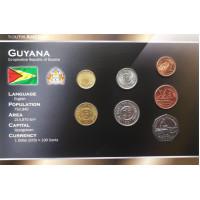 Guyana 1991-2002 year blister coin set