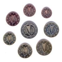 Ireland 2005 Euro coins UNC Set