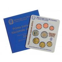 Italy 2002 Euro coins BU set