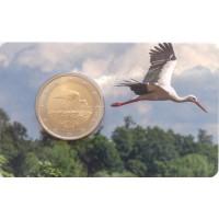 Latvia 2015 Black Stork Coin Card