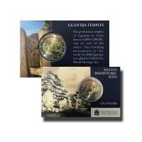 Malta 2016 Ggantija Temples coin card