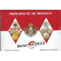 Monaco 2013 Euro coins BU set