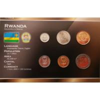 Rwanda 2003-2007 year blister coin set