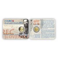 Slovakia 2015 200th anniversary of the birth of Ludovít Štur coin card