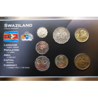 Swaziland 2005 year blister coin set