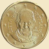 Vatican City 2014 50 Cent Pope Francis