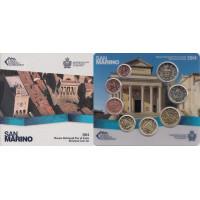 San Marino 2014 Euro coins BU set