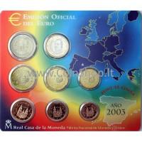 Spain 2003 Euro Coins BU Set