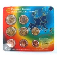 Spain 1999 Euro Coins BU Set