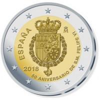 Spain 2018 50th anniv. of the birth of Felipe VI